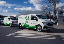 Elektryczne Volkswageny Transportery Żabki